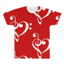 music heart rock baseball All Over Men's T-shirt | Artistshot