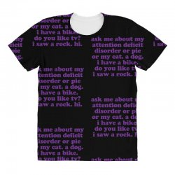 Funny ADHD quote All Over Women's T-shirt | Artistshot