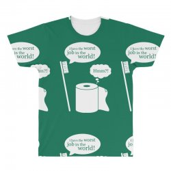 i have the worst job in the world! All Over Men's T-shirt | Artistshot