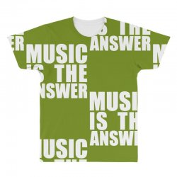 music is the answer printed All Over Men's T-shirt | Artistshot
