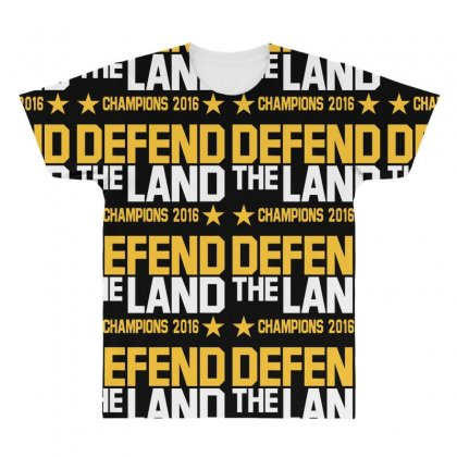 Cleveland Cavaliers All Over Men's T-shirt Designed By Vr46
