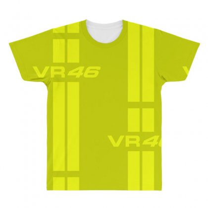Valentino Rossi Stripes All Over Men's T-shirt Designed By Vr46