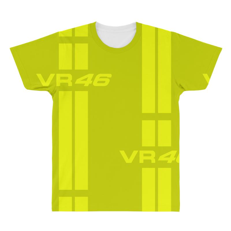 9bb6f5e88 Custom Valentino Rossi Stripes All Over Men's T-shirt By Vr46 ...