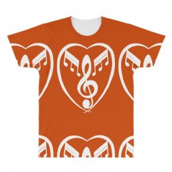 music heart All Over Men's T-shirt | Artistshot