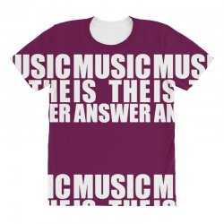 music is the answer All Over Women's T-shirt | Artistshot