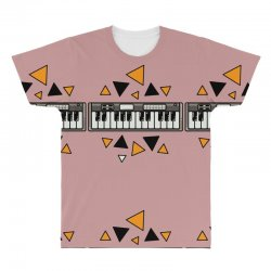 music,keyboard,electronic,piano,triangle,reflections,cute,vectorart, All Over Men's T-shirt | Artistshot
