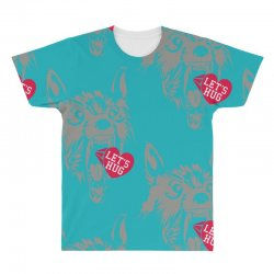 screaming wolf love you All Over Men's T-shirt | Artistshot