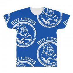 Bulldog Sports Team All Over Men's T-shirt | Artistshot