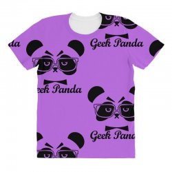 Geek Panda All Over Women's T-shirt | Artistshot