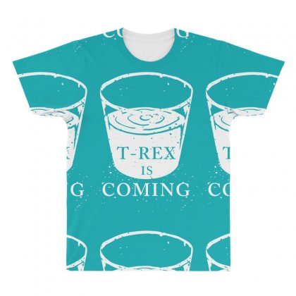 T Rex Is Coming All Over Men's T-shirt Designed By Specstore