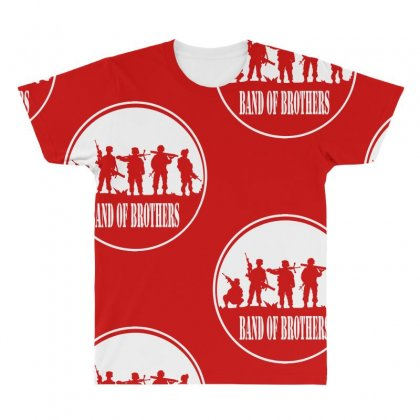 Usmc A Band Of Brothers All Over Men's T-shirt Designed By Specstore