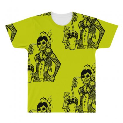 Yakuza Punch All Over Men's T-shirt Designed By Specstore
