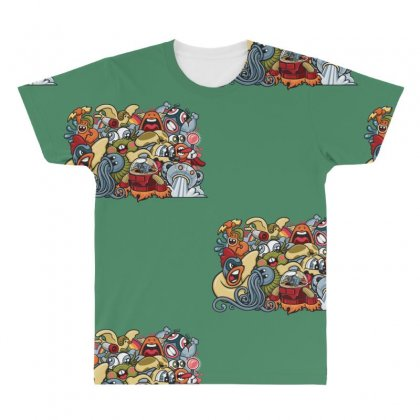 Animal Space Heroes All Over Men's T-shirt Designed By Specstore