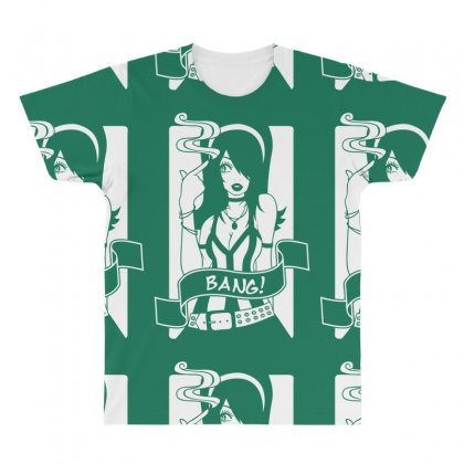 Bang Bang Girl All Over Men's T-shirt Designed By Specstore
