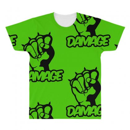 Damage Punch All Over Men's T-shirt Designed By Specstore