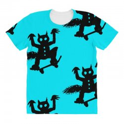 wild thing on a skateboard All Over Women's T-shirt   Artistshot