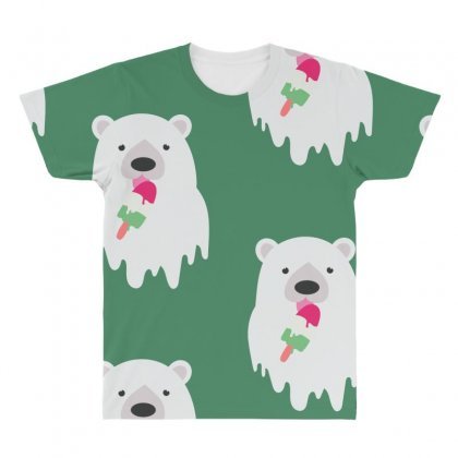 Melted Polar Cream All Over Men's T-shirt Designed By Specstore