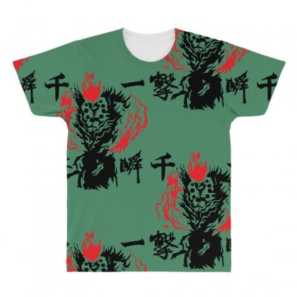 Raging Demon All Over Men's T-shirt Designed By Specstore