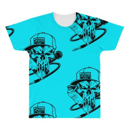 Skull Artis All Over Men's T-shirt Designed By Specstore