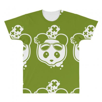 Super Hippies Panda All Over Men's T-shirt Designed By Specstore