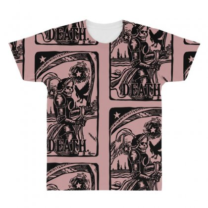 Tarot Death Card All Over Men's T-shirt Designed By Specstore