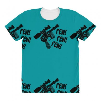 Pew Pew Pew All Over Women's T-shirt Designed By Specstore