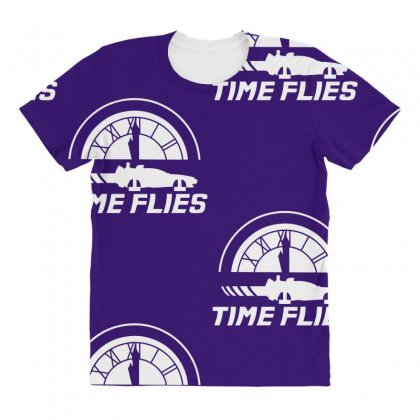 Time Flies All Over Women's T-shirt Designed By Specstore