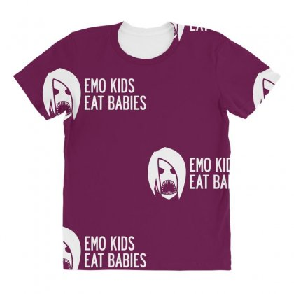Emo Kids Eat Babies All Over Women's T-shirt Designed By Specstore