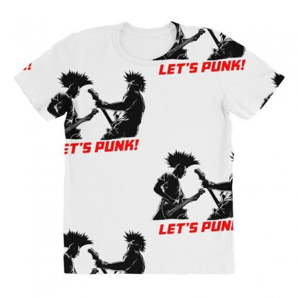 Lets Punk All Over Women's T-shirt Designed By Specstore