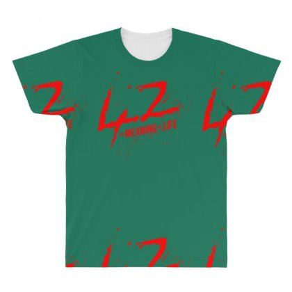 42 The Meaning Life All Over Men's T-shirt Designed By Specstore
