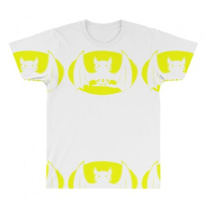 Bat Moon All Over Men's T-shirt Designed By Specstore