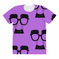 comedy fancy dress moustache funny All Over Women's T-shirt | Artistshot