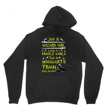 Just A Wizard Girl Living In A Muggle World Unisex Hoodie Designed By Love Shiga