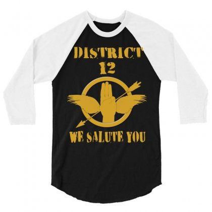District 12 We Salute You 3/4 Sleeve Shirt Designed By Love Shiga