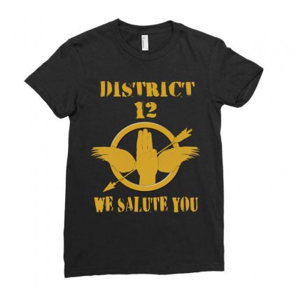 District 12 We Salute You Ladies Fitted T-shirt Designed By Love Shiga