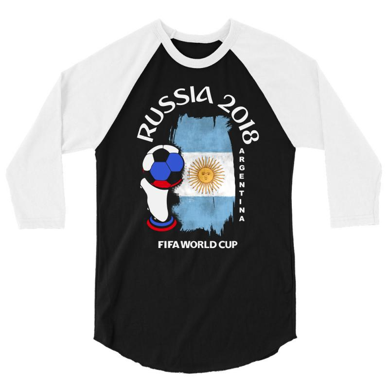 7bfd66e69 Custom Argentina National Team Youth 2018 Fifa World Cup 3/4 Sleeve Shirt  By Aheupote - Artistshot