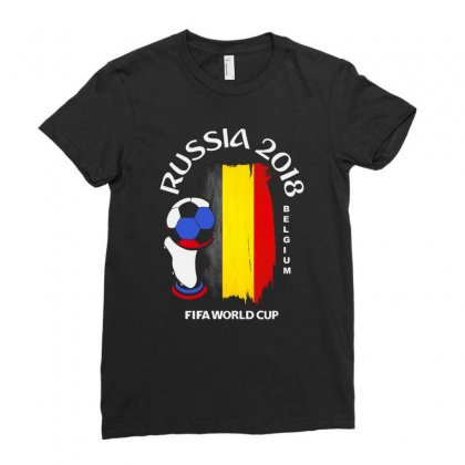 Belgium National Team Youth 2018 Fifa World Cup Ladies Fitted T-shirt Designed By Aheupote