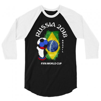 Brazil National Team Youth 2018 Fifa World Cup 3/4 Sleeve Shirt Designed By Aheupote