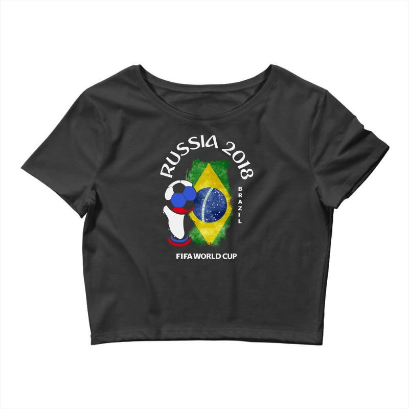 Custom Brazil National Team Youth 2018 Fifa World Cup Crop Top By ... 2bac02e56
