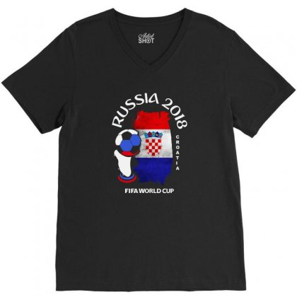 Croatia National Team Youth 2018 Fifa World Cup V-neck Tee Designed By Aheupote