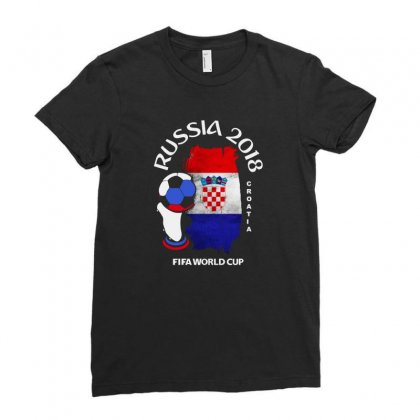 Croatia National Team Youth 2018 Fifa World Cup Ladies Fitted T-shirt Designed By Aheupote