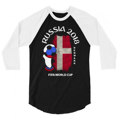Denmark National Team Youth 2018 Fifa World Cup 3/4 Sleeve Shirt Designed By Aheupote