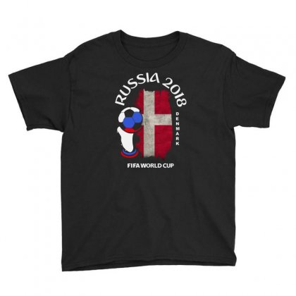 Denmark National Team Youth 2018 Fifa World Cup Youth Tee Designed By Aheupote