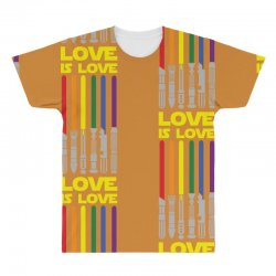 Lightsaber Rainbow - Love Is Love All Over Men's T-shirt | Artistshot