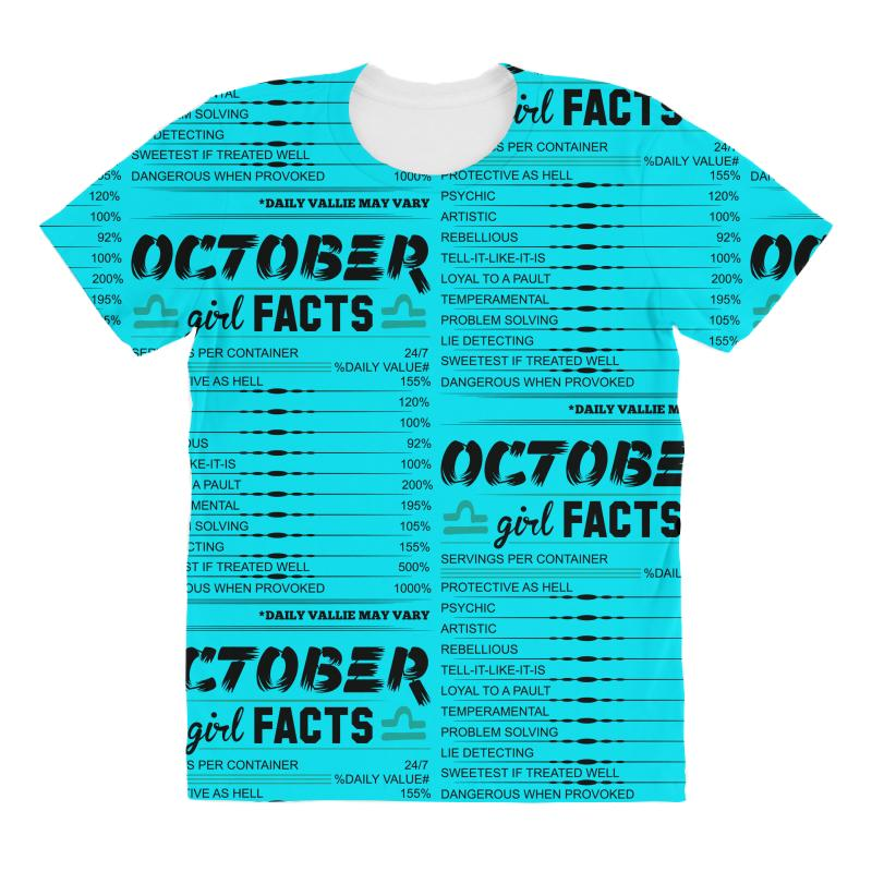 October Girl Facts Libra All Over Women's T-shirt  By Artistshot