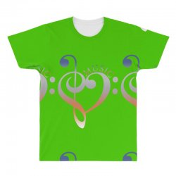 music expresses clef heart girls All Over Men's T-shirt | Artistshot