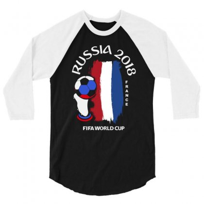 France National Team Youth 2018 Fifa World Cup 3/4 Sleeve Shirt Designed By Aheupote