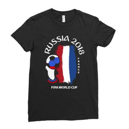 France National Team Youth 2018 Fifa World Cup Ladies Fitted T-shirt Designed By Aheupote