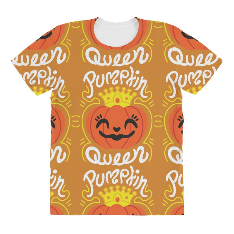 eab787ac972 Custom Pumpkin Queen All Over Women s T-shirt By Sbm052017 - Artistshot