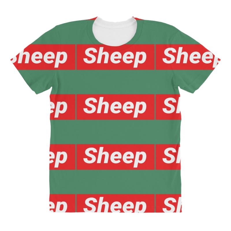 58463c96c49a Custom Sheep (idubbbz Merch) Supreme All Over Women's T-shirt By Tshiart -  Artistshot